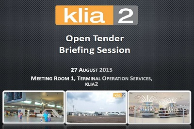 klia2 Open Tender Exercise