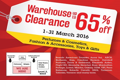 Warehouse Clearance Sale at klia2!